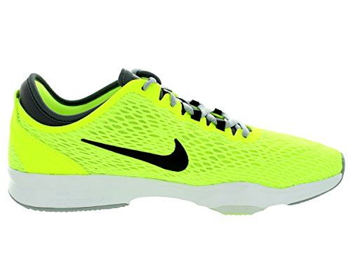 Nike Wmns Zoom Fit, Chaussures de Gymnastique Femme Jaune - Amarillo (Volt / Black-Dark Grey-White)