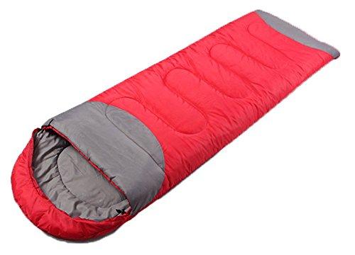 Honeystore Camping & Outdoor 210T Pongé Schlafsack-Deckenschlafsack (190+30)*75 CM Rot