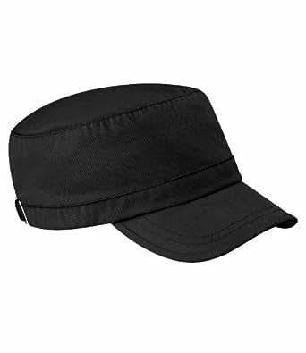 Beechfield Classic Army Cap 100% Cotton - 9 Great Colours (B34) (BLACK)