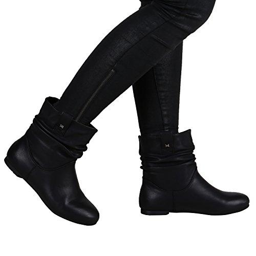 Stiefelparadies , Bottes à enfiler femme Noir