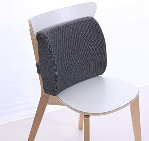 QNYH Lendenkissen Büro Kissen Taille Memory Foam Computer Sitz Rückenlehne Schwangere Frauen Stuhl Pad 34 cm X 31 cm X 12 cm -