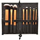 Puna Store Makeup Brush Set with Storage Pouch (Bronze) -8 Pieces