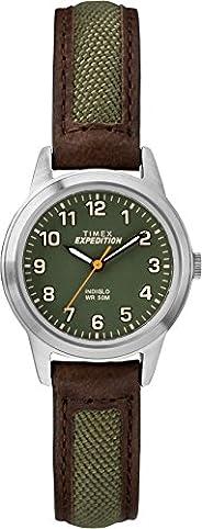 Timex Womens Quartz Watch, Analog Display And Leather Strap - TW4B12000