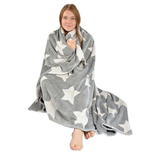 Snug Me Supersoft - Couverture douillette de luxe extra-large et incroyablement molle avec une touche de cachemire   150 x 200 cm   Couleur: gris