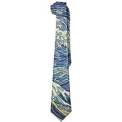Corbata con decoración fractal La Gran Ola de Hokusai