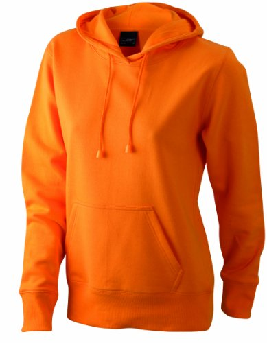 James & Nicholson Sweatshirt Hooded, Felpa Donna, Arancione (orange), Small