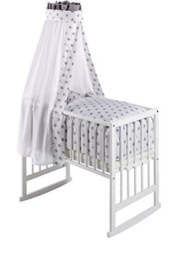 Preisvergleich Produktbild Schardt 09 950 00 02 1/723 Multifunktionswiege Vario weiß lackiert, inklusive textiler Ausstattung Big Stars grey