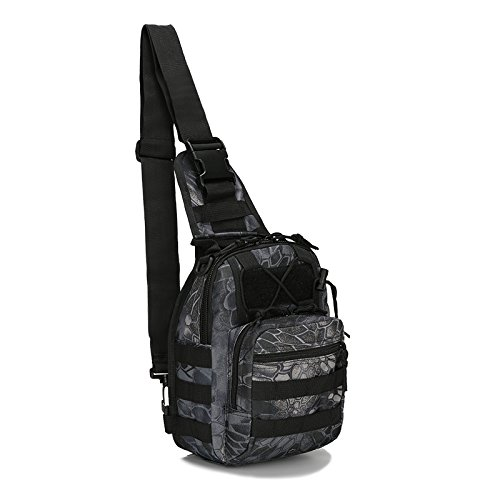Outdoor Tactical Rucksack, Military Sport Pack Daypack Schulter Rucksack Python black