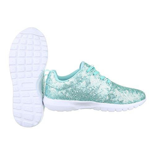 Sneaker Ital-design Sneaker Basse Scarpe Da Ginnastica Basse Stringate Scarpe Casual Azzurro 50-h61007e