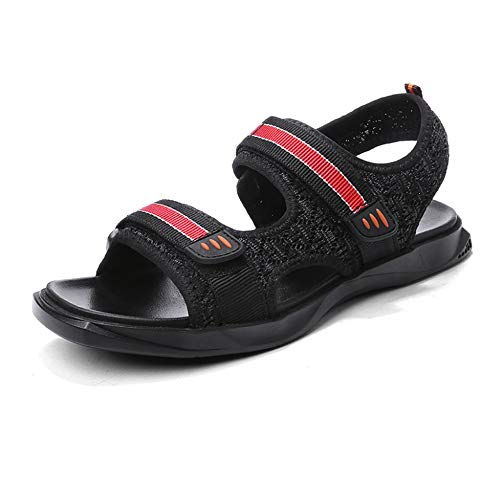 CATEER Outdoor Mens B Sandali Designer Extra Wide Fit Escursionismo Leggero Espadrillas Gioventù Regolabile Chiusura (Colore : Red, Taglia : 40EU)