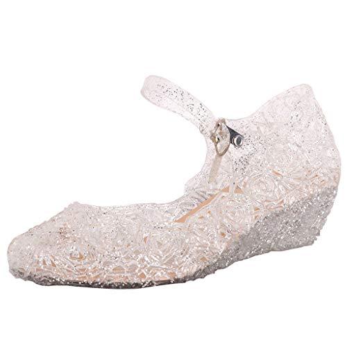 Niñas Bailarina Zapatos Tacón Cuña Disfraz Princesa