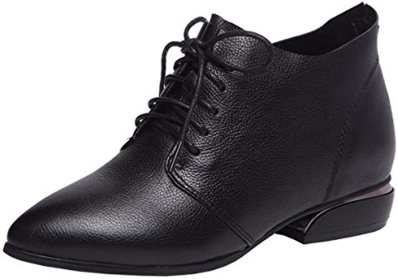 KOKQSX-Signore Gli Stivali di Cuoio Interni Altezza Moda Moda Moda Breve Stivali ma dingxue 40 nero | Primi Clienti  | Uomo/Donne Scarpa  0ace46