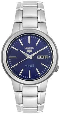 Reloj Seiko SNKA05K1 automático para hombre con correa de acero inoxidable, color plateado de Seiko