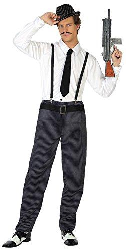 Gangster Kostüm Für Herren - ATOSA 38762 Gangster, Kostüm, Herren, mehrfarbig,