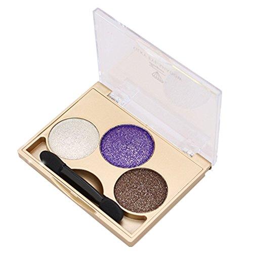 Vococal Glitter Fard à Paupières 3 Couleur Maquillage Eyeshadow Palette,3#