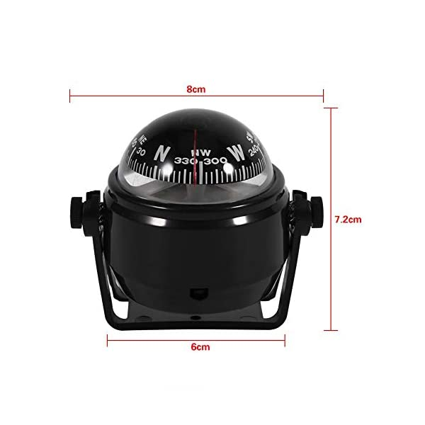 Automotive Navigation Compass Marine Electronic Voyager Compass, Multi-function Dashboard Digital Flush Mount for Car Vehicle Sea Marine Boat Ship Outdoor Trip ... 6