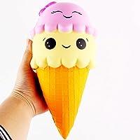 MEIbax - Giocattolo di decompressione a forma di gelato, ciondolo spremibile profumato, riprende la sua forma lentamente, simulazione di giocattolo per bambini
