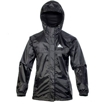 Cox Swain 2-Lagen Damen Outdoor Funktions Regenjacke - 3.000mm Wassersäule -3.000mm Atmungsaktivität, Farbe: Black, Größe: S