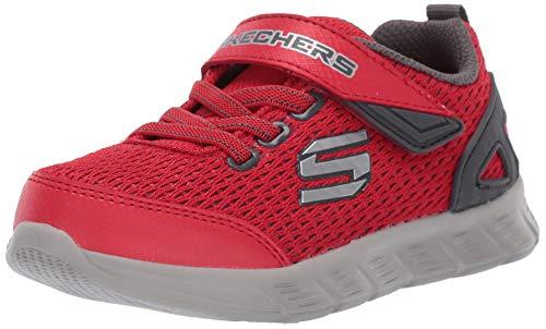 Skechers Compfy Flex, Zapatillas para Niños, Rojo (Red Charcoal Rdcc), 21 EU