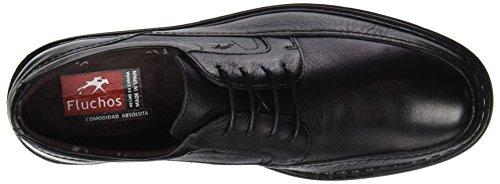 Fluchos- retail ES Spain Clipper, chaussures Derby homme Noir (Black)