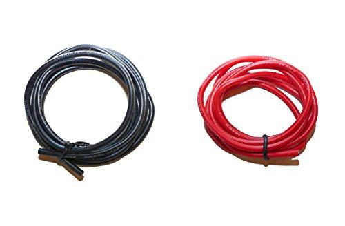 Silikonkabel Premium Silikonlitze Kupfer rot und schwarz Silikon Kabel Litze hochstromfest und hitzebeständig für Modellbau UVM. In verschiedenen Querschnitten von Modellbau Eibl ® (16AWG - 1,3mm²) 1.3-kabel Modell