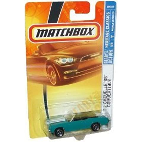 Mattel Matchbox 2007 MBX Heritage Classics 1:64 Scale Die Cast Metal Car # 5 - Hunter Green Sport Coupe 1971 Chevelle SS Convertible by MBX