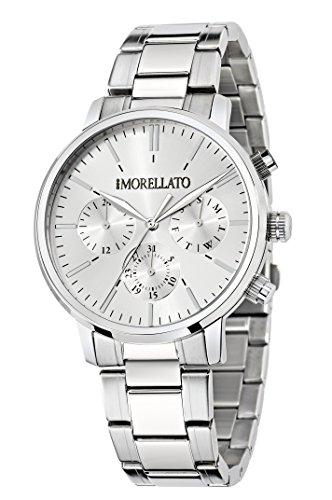 Morellato, Sorrento, orologio al quarzo da uomo con quadrante analogico e cinturino in acciaio inossidabile, colore argento, R0153128002