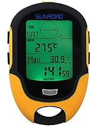 Barómetro altímetro brújula Digital multifunción para deportes al aire libre (modelo Sunroad FR-500) mediante Sunroad