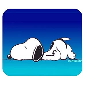Sleeping Snoopy Mousepad Personalized Custom Mouse Pad Oblong Shaped In 9.84″X7.87″ Gaming Mouse Pad/Mat
