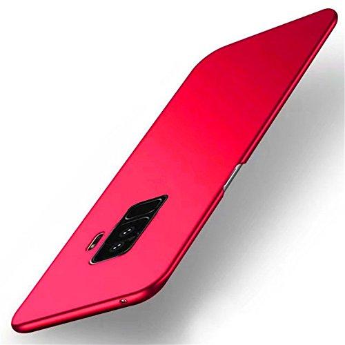 Samsung Galaxy S9 Plus Hülle,Ultra dünn PC handy Schutzhülle Schale Stoßfest Galaxy S9 Handyhülle Schutz Tasche Schale Schutzhülle für Samsung Galaxy S9/S9 Plus (Samsung Galaxy S9, Rot)