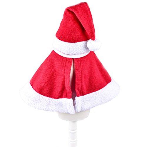 Qualitäts Santa Kostüme (Haustier Kleidung, Transer® New Fashion Merry Christmas Red Hat & Schal Weihnachten Kleidung für Hunde/Katzen Santa Claus Kostüm Kleid bis für)