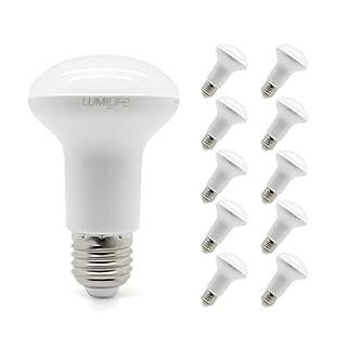 Lumilife 6W E27LED Reflektor-Glühbirne, 10Stück Warm Weiß 40W Ersatz