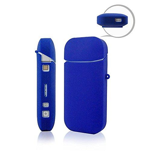 iQOS Caso sigaretta elettronica shell conchiglia titolare Tasca Monojoy portatile Gel di silice morbido e-cig scatola Borsa marsupio conchiglia antigraffio cassa (blu)