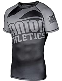 "'Phantom Athletics ""Supporter 2.0 SS – Black/Grey – Función Camiseta, BJJ MMA Grappling Compression Camiseta de manga corta"