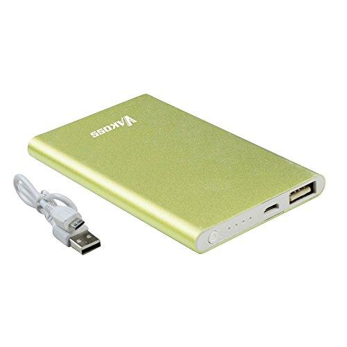 VAKOSS 5000mAh Power Bank Externer Akku USB  für PC/Smartphone grün