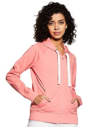 Amazon Brand - Symbol Women's Cotton Sweatshirt (AW19SS002_Candle Pink_X-Small)