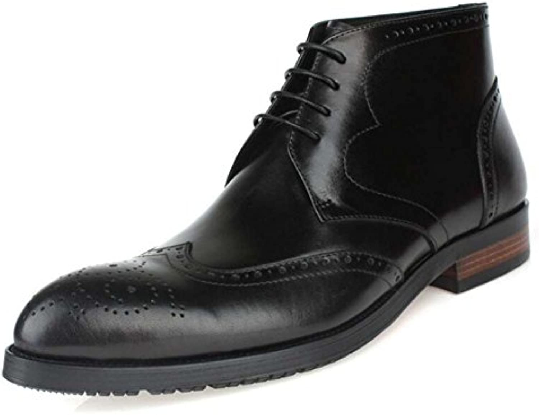 GLSHI Herren High Top Schuhe Britische Wies Business Schuhe High Top Boots Lederstiefel
