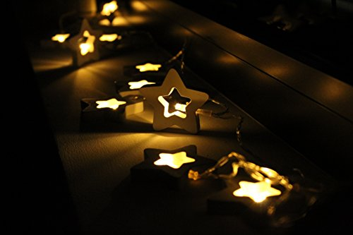 Stella Luminosa Di Natale.Catena Di Luci A Led A Forma Di Stella Decorazione Luminosa A