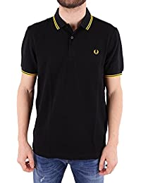 Fred Perry Homme FPM360025506 Noir Coton Polo