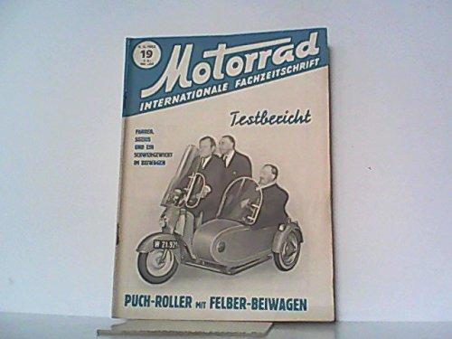 Motorrad. 6. Jahrgang, Heft 19 / 237, 09.05.1953. Internationale Fachzeitschrift. Mit Themen u.a.: Testbericht: Puch - Roller. / Moto - Guzzi Ziolo. / Peugeot Programm 1953.