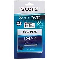 Sony DVD-R vergini per videocamere DVD, 30 min, confezione da 5
