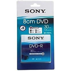 Sony 5 Pack 8cm Dvd-r 30 Min - Blister