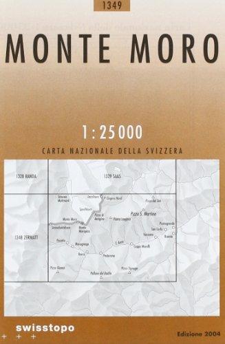 Swisstopo 1 : 25 000 Monte Moro: Macugnaga - Pizzo San Martino