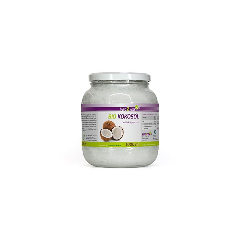 Bio Kokosl Nativ 1000ml Kaltgepresst Und Naturbelassen Premium Qualitt