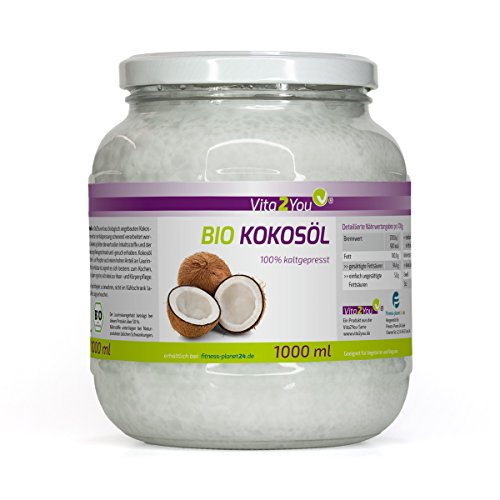 BIO Kokosöl Nativ 1000ml - Kaltgepresst und Naturbelassen - Premium Qualität