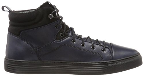 Camel Active Bowl 32, Baskets Montantes Homme Bleu (Denim/black)