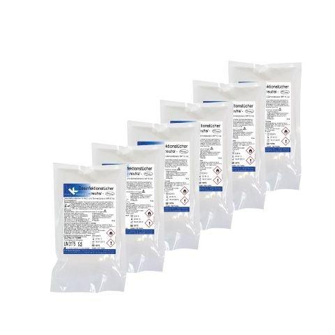 KK Desinfektionstücher Nachfüll-Set | Inhalt: 6 Nachfüllbeutel mit á 120 gebrauchsfertigen Desinfektionstüchern | Verschiedene Duftsorten (Neutral)