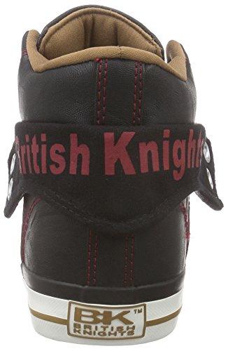 British Knights - Roco, Sneaker alte Uomo Multicolore (Mehrfarbig (Black-Cognac-Red 07))