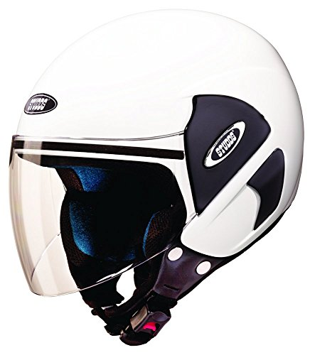 Studds Cub Half Helmet (White, M)