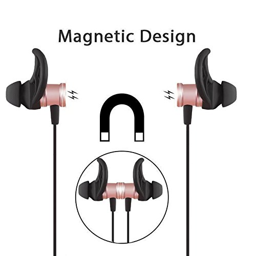 J SLS-100 Magnet Bluetooth Music Headphone Headset Wireless Sports Earphone with Mic for iPhone Smart Phones Golden